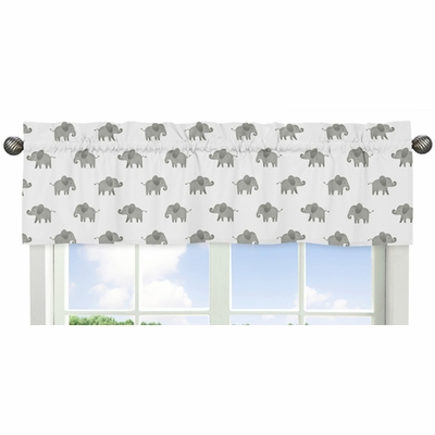 Elephant Grey and Blush Pink Collection Window Valance