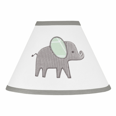 Elephant Grey and Mint Collection Lamp Shade