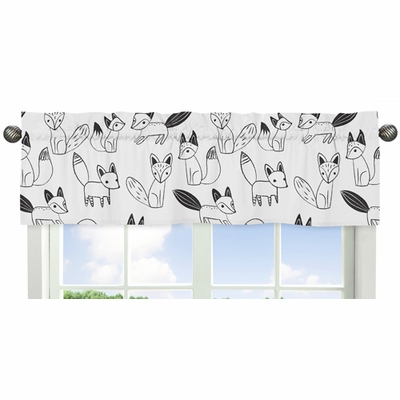 Fox Black and White Collection Window Valance