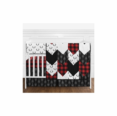 Lumberjack Collection 5 Piece Bumperless Crib Bedding