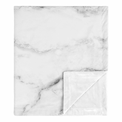 Marble Black and White Collection Baby Blanket