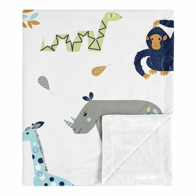 Mod Jungle Collection Baby Blanket
