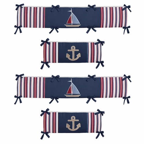 Nautical Nights Collection Crib Bumper Pad