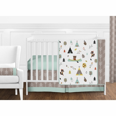 Outdoor Adventure Collection 11 Piece Bumperless Crib Bedding Collection