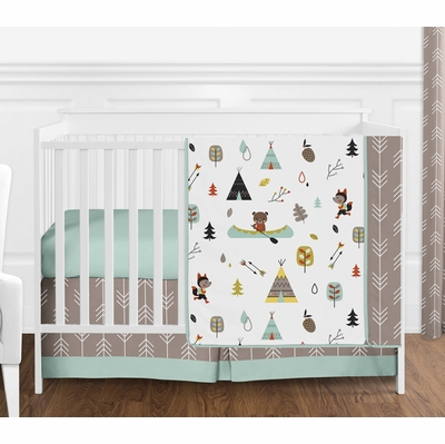 Outdoor Adventure Collection 4 Piece Bumperless Crib Bedding Collection