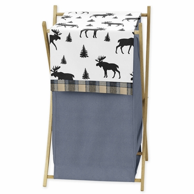 Rustic Patch Blue and Tan Collection Hamper