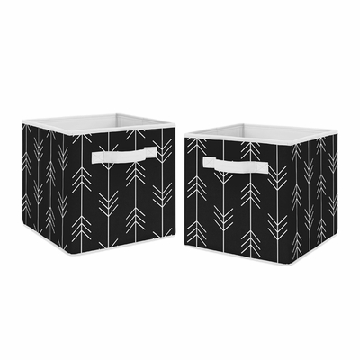 Rustic Patch Collection Arrow Print Foldable Fabric Storage Bins - Set of 2