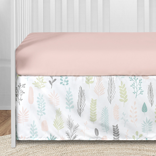 Sloth Pink And Grey Collection 5 Piece Crib Bedding
