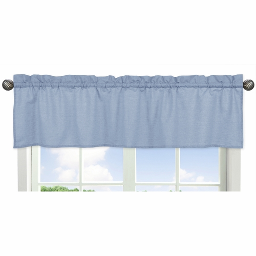 Solid Denim Window Valance