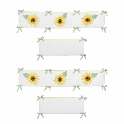 Sunflower Collection Crib Bumper Pad