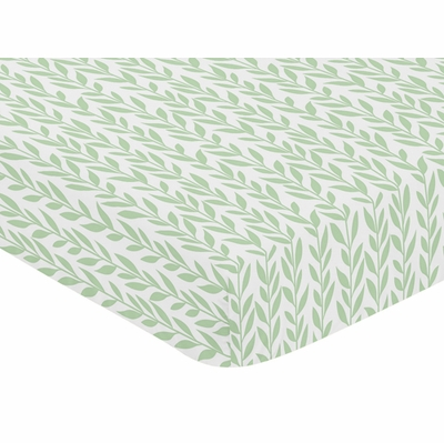 Sunflower Collection Crib Sheet - Leaf Print