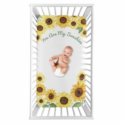 Sunflower Collection Crib Sheet - You are my Sunshine