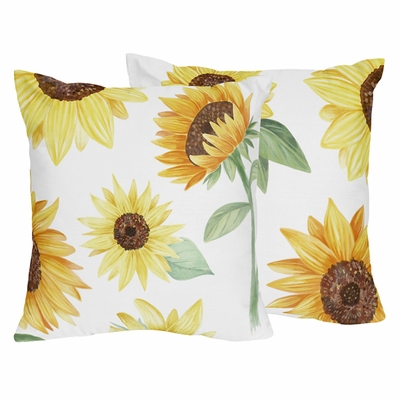 Sunflower Collection Decorative Accent Throw Pillows - Set of 2