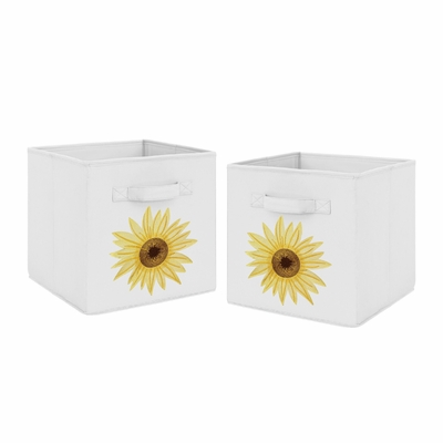 Sunflower Collection Foldable Fabric Storage Bins
