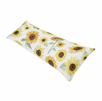 Sunflower Collection Full Length Body Pillow Cover