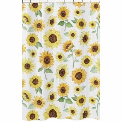 Sunflower Collection Shower Curtain
