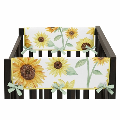 Sunflower Collection Side Rail Guard Covers - Set of 2