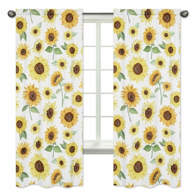 Sunflower Collection Window Panels - Set of 2