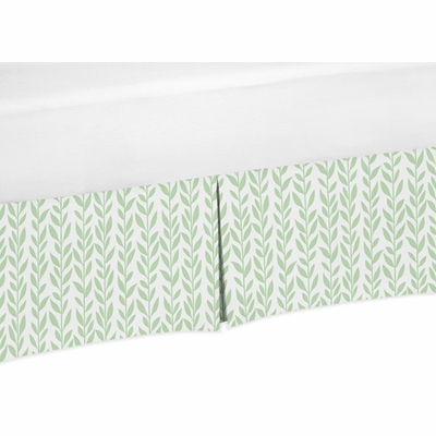 Sunflower Leaf Print Collection Crib Bed Skirt