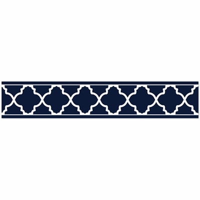 Trellis Navy Blue And White Collection Wallpaper Border