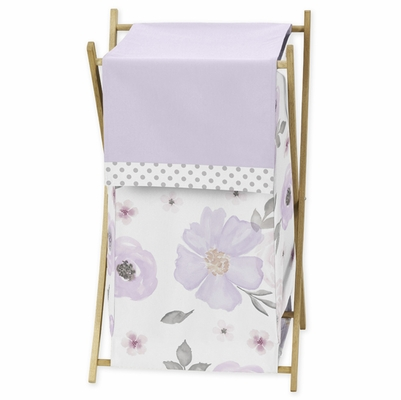 Watercolor Floral Lavender and Grey Collection Hamper