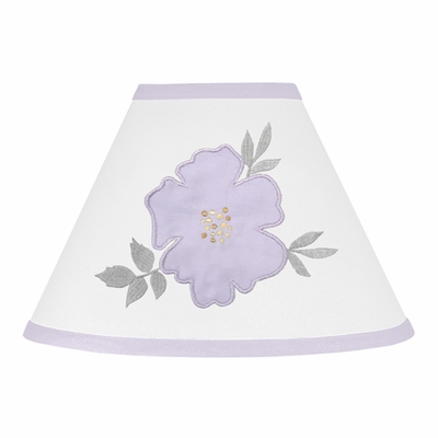 Watercolor Floral Lavender and Grey Collection Lamp Shade