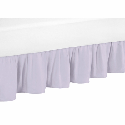 Watercolor Floral Lavender and Grey Collection Toddler Bed Skirt