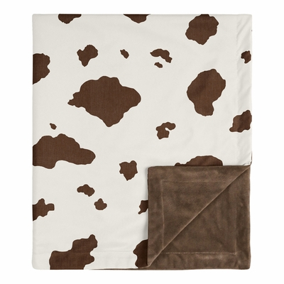 Wild West Collection Baby Blanket - Cow Print