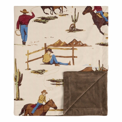 Wild West Cowboy Collection Baby Blanket