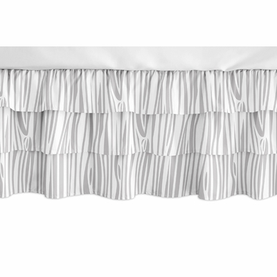 Woodland Animals Collection 3 Tiered Crib Bed Skirt