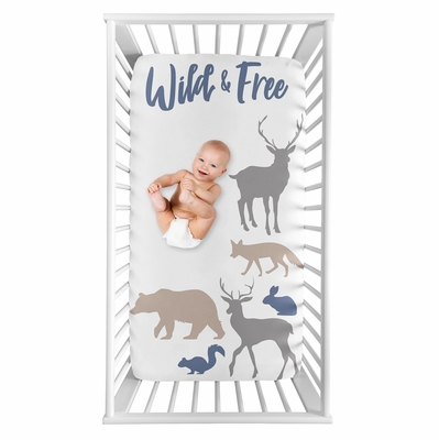 Woodland Animals Collection Photo Op Crib Sheet