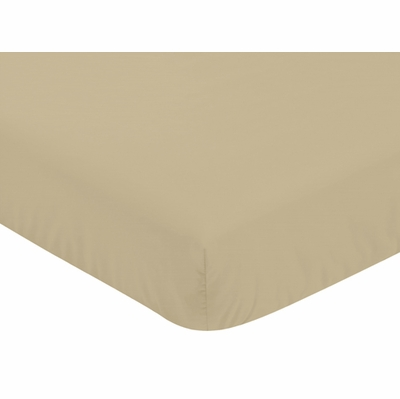 Woodland Camo Collection Crib Sheet - Beige