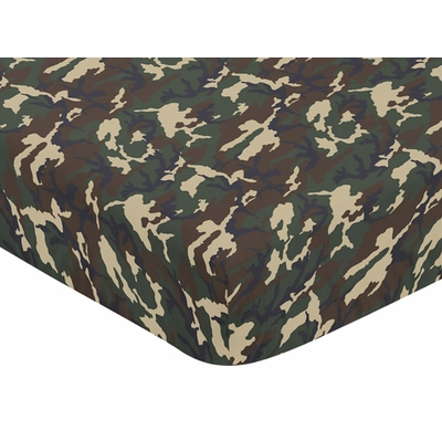 Woodland Camo Collection Crib Sheet - Camouflage
