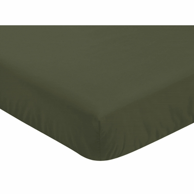 Woodland Camo Collection Crib Sheet - Dark Green