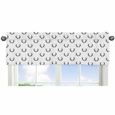 Woodland Camo Collection Deer Print Window Valance