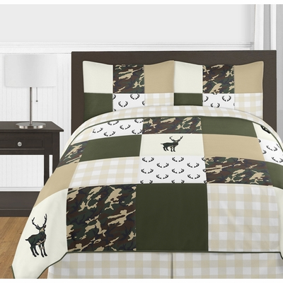 Woodland Camo Collection Full/Queen Bedding