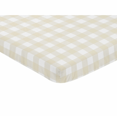 Woodland Camo Collection Mini Crib Sheet - Buffalo Plaid Check