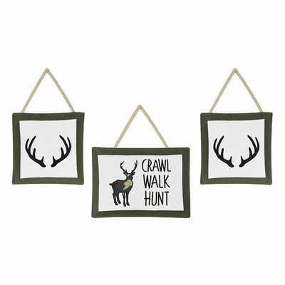 Woodland Camo Collection Wall Hangings