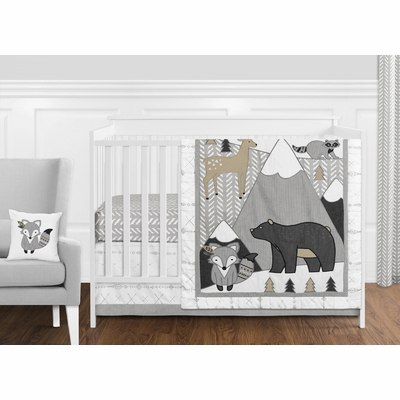 Woodland Friends Collection 11 Piece Bumperless Crib Bedding