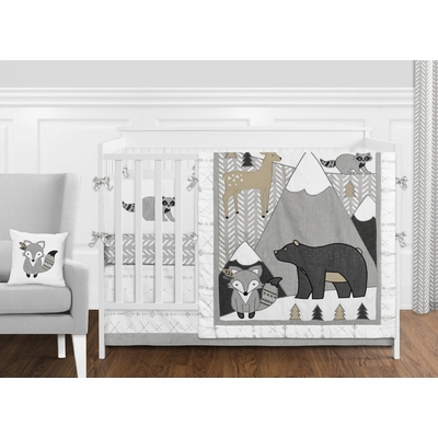 Woodland Friends Collection Crib Bedding