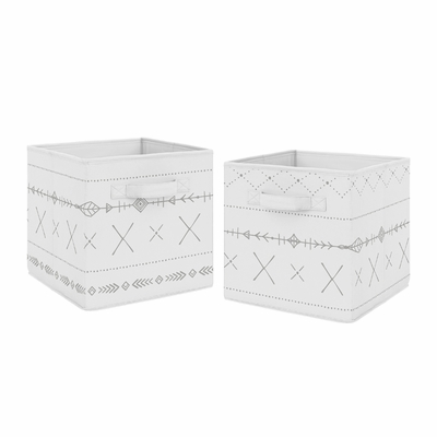 Woodland Friends Collection Foldable Fabric Storage Bins - Set of 2