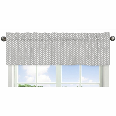 Woodland Friends Collection Herringbone Print Window Valance