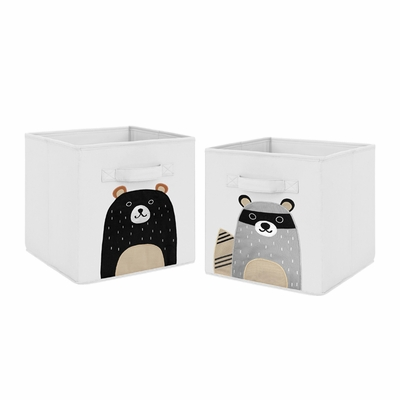 Woodland Pals Collection Foldable Fabric Storage Bins