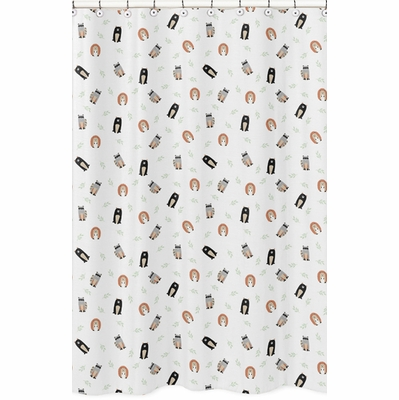 Woodland Pals Collection Shower Curtain