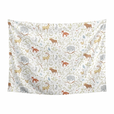 Woodland Toile Collection Wall Tapestry - 60in. x 80in.