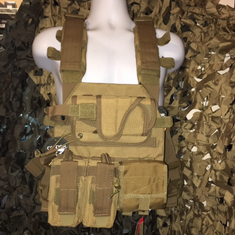 "Condor Coyote Sentry Plate Carrier With Molle and (2) 10 x 12"" Certified AR500 NIJ Compliant Plates"