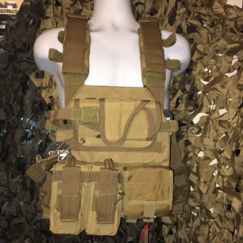 """Condor Coyote Sentry Plate Carrier With Molle and (2) 10 x 12"""" Certified AR500 NIJ Compliant Plates"""