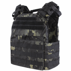 "Condor Cyclone Lightweight Plate Carrier MultiCam Black & (2) 10x12"" Level III Stand Alone AR500 Steel Plates"