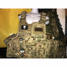 "Condor Defender Punisher Multicam Plate Carrier With Molle and (2) 10 x 12"" Certified AR500 NIJ Compliant Plates & Side Plates, All Molle Shown Included! Loaded Multicam Rig!"
