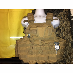 "Condor MOPC USMC Dark Brown, Holster & Molle (2) Level III 10x12"" AR500 Plates & 6x6"" Side Plates"